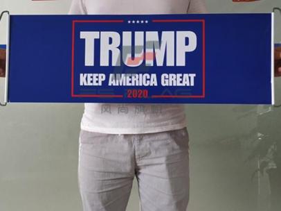Trump retractible banner side 2