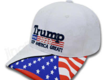 White Trump Flag Hat