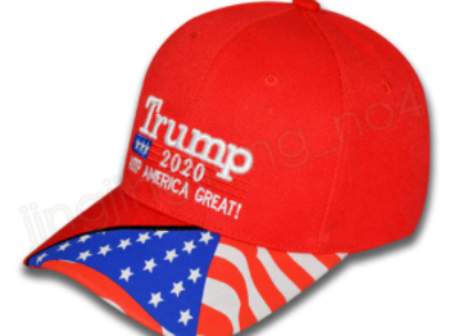 trump2020 flag hat red